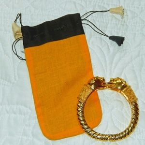 Jewelry - Animal Magnetism Gold Tone Bangle w/ Jewelry Bag